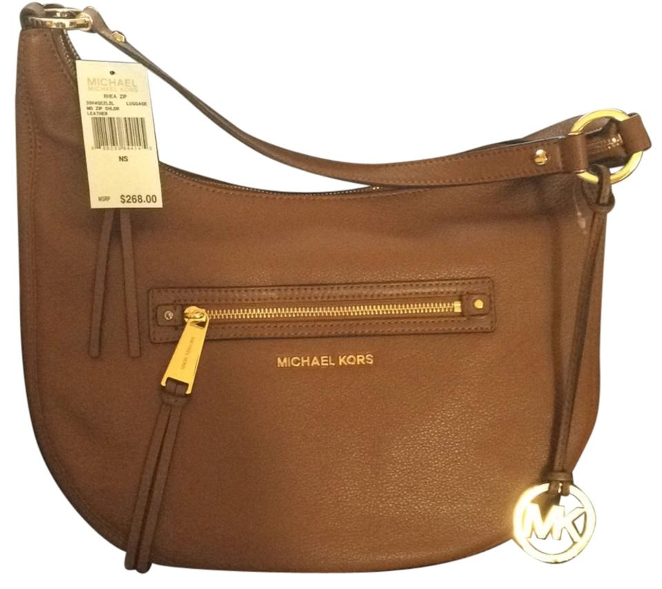 75893a412e1f Michael Kors 30h4gezl2l Luggage Leather Shoulder Bag - Tradesy