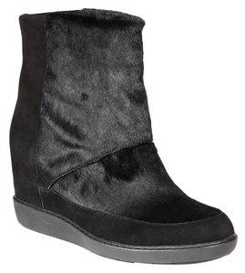 Vince Women Ankle Salon Size 11 Motorcicle Pony Hair Suede black Boots
