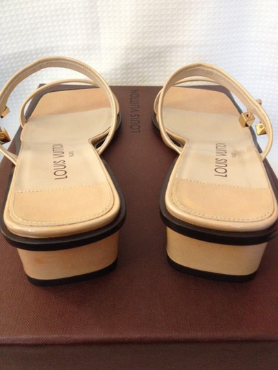 Louis Vuitton Slides Charms Mule TAN Patent Leather Flats
