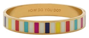 Kate Spade Kate Spade How Do Your Do Idiom Hinged Bracelet NWT Perfectly Striped Idiom Collection
