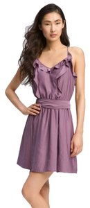 Rebecca Taylor short dress Purple Ruffles on Tradesy