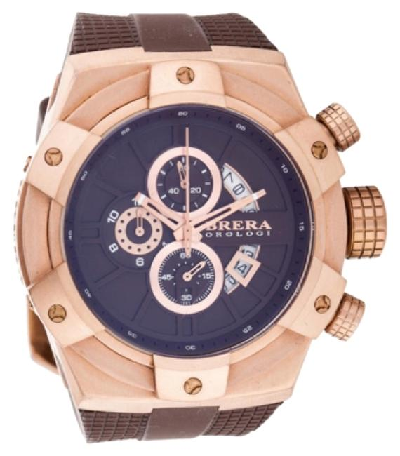 Item - Brown Rubber Strap / Rose Gold Dial Supersportivo Chronograph Watch