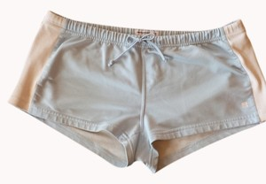 Abercrombie & Fitch light blue and white Shorts