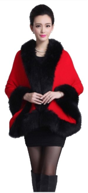 Preload https://item5.tradesy.com/images/black-red-and-fur-ponchocape-size-os-one-size-9936514-0-1.jpg?width=400&height=650