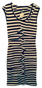 Nicole Miller short dress Navy and White Stripe on Tradesy