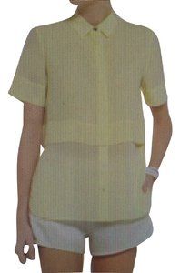 T by Alexander Wang Button Down Shirt Lemon