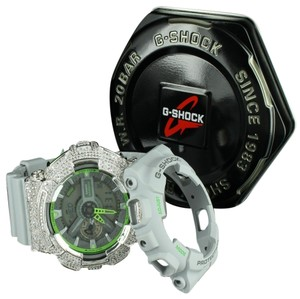 G-Shock Green Dial G Shock Watch Ga110ts Analog Digital Shock Resistant Screen