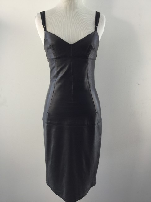 Preload https://item5.tradesy.com/images/dolce-and-gabbana-black-leather-above-knee-night-out-dress-size-0-xs-993749-0-2.jpg?width=400&height=650