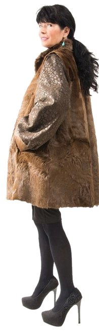 Preload https://img-static.tradesy.com/item/9937597/brown-stroller-length-jacket-leather-sleeves-soft-large-xl-stunning-fur-coat-size-16-xl-plus-0x-0-1-650-650.jpg