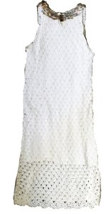 Lilly Pulitzer short dress white Mother Of Pearl Shell Embellishment Cotton on Tradesy