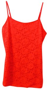 Style & Co Lace Fabric At Front Top Red
