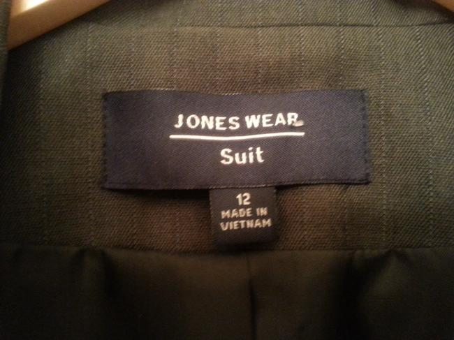 Jones Wear Jones Wear Suit Charcoal w/ Blue Pinstripes