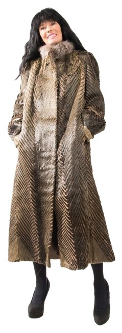 Preload https://item4.tradesy.com/images/brown-unsheared-light-fitted-jacket-plush-thick-super-soft-small-med-fur-coat-size-10-m-9938773-0-1.jpg?width=400&height=650