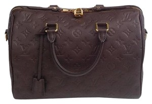 Louis Vuitton Empreinte Speedy 30 Empreinte Speedy Speedy Bandouliere Monogram Satchel in Terre/Earth