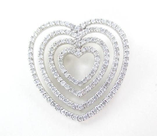 Other 18K SOLID WHITE GOLD DIAMOND HEART 158 GENUINE DIAMONDS 1.58 CARAT 7.1 GRAMS