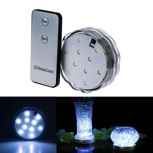 White 5x Waterproof 10 Led Color Submersible Wedding Party Eiffel Tower Vase Base Light with Remote Control