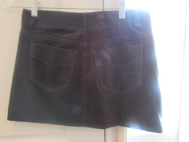 Theory Curduroy Mini Skirt brown