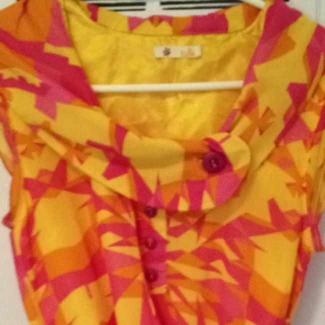 Tulle short dress Pink, Orange, And Yellow on Tradesy