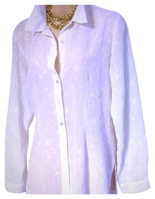 Preload https://item2.tradesy.com/images/laura-ashley-embroidered-shirt-button-down-top-size-14-l-9940351-0-1.jpg?width=400&height=650