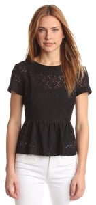 French Connection Lace Top Black