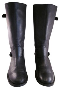 Burberry Moto Pebbled Leather Black Boots