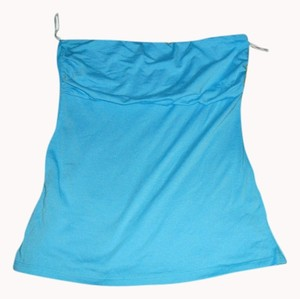 Max Rave Strapless Top Blue