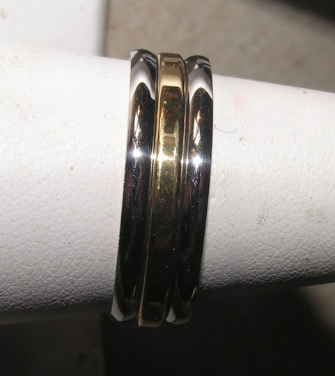 Silver/Gold Bogo Free 3pc Two Tone Fashion Free Shipping Ring