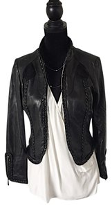 Mike Gonzalez black Leather Jacket