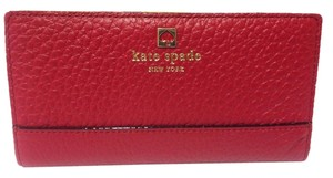 Kate Spade Southport Avenue Stacy Wallet Dynasty Red $198 MSRP