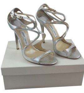 Jimmy Choo Evening Metallic champagne Sandals