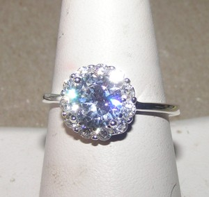 Ssp White Sapphire Engagement Ring Free Shipping