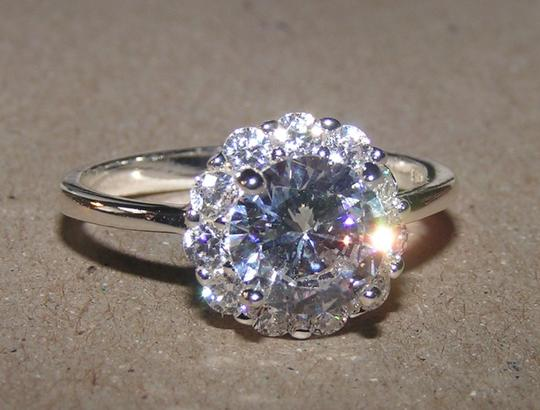 Silver Bogo White Sapphire Promise Free Shipping Engagement Ring