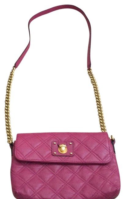 Marc Jacobs Hot Pink Leather Cross Body Bag Marc Jacobs Hot Pink Leather Cross Body Bag Image 1