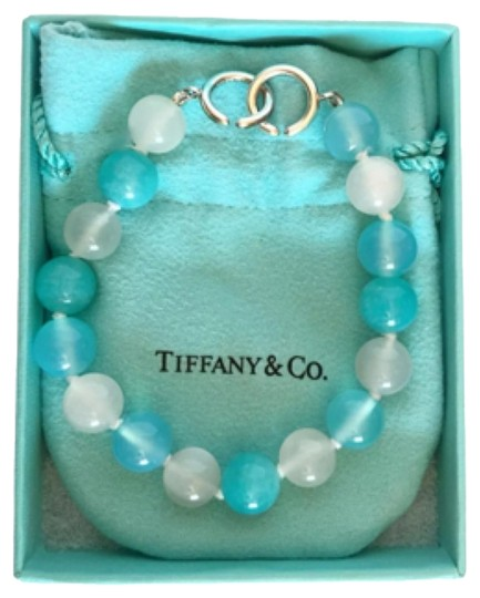 Tiffany & Co. Paloma Picasso Amzonite Blue Agate Moonstone Gemstone Bracelet Rare