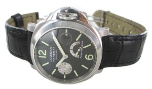 Panerai PANERAI PAM 125 STAINLESS STEEL WATCH LEATHER AUTOMATIC POWER RESERVE WRISTWATCH