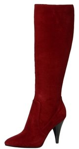 Via Spiga Suede Boot Red Boots