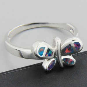 Multi Colored Bogo Free Opal Butterfly Free Shipping Ring