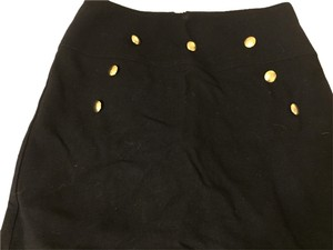 Stolen Girlfriends Club Mini Skirt Black with Gold