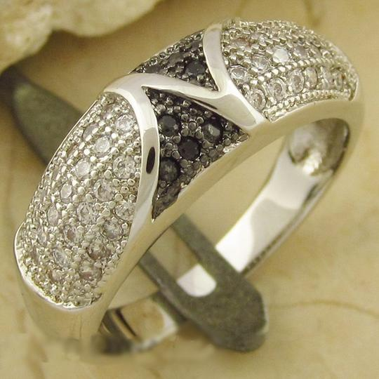 Black/White/Silver Bogo Free and Gemstone Free Shipping Ring