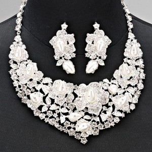 Pearl And Rhinestone Statement Bridal Set