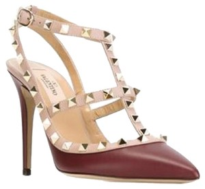 Valentino Rockstud Oxblood Burgundy Pumps