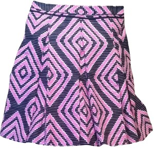 Tory Burch Skirt Pink, Black, White