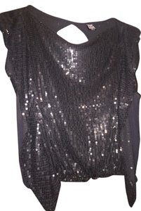 Free People Sequin Classy Comfortable Going Out Evening Top BLACK