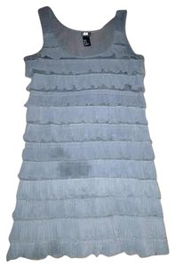 H&M short dress Grey Ruffle on Tradesy