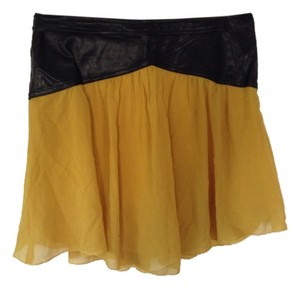 Free People Mini Skirt Black and yellow