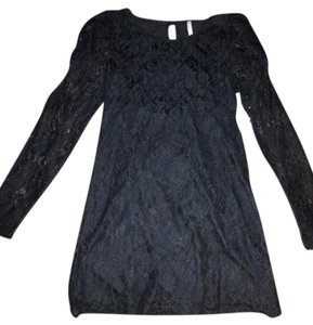 Charlotte Russe short dress Black Lace Longsleeve on Tradesy