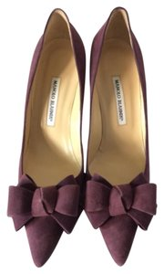 Manolo Blahnik Purple Pumps