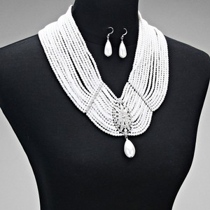 Art Deco Multi Strand Pearl Bridal Jewelry Set