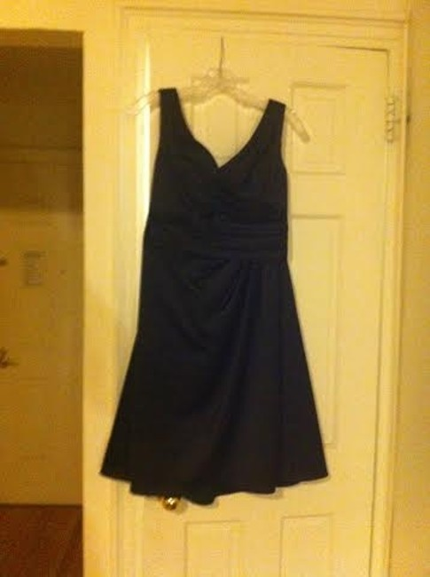 Item - Black Polyester F14823 Traditional Bridesmaid/Mob Dress Size 8 (M)