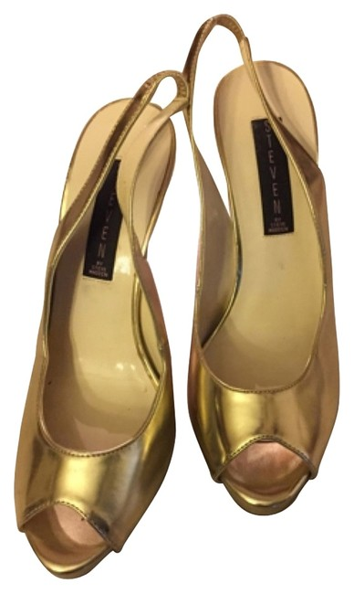 Steven by Steve Madden Gold Heels Platforms Size US 8 Regular (M, B) Steven by Steve Madden Gold Heels Platforms Size US 8 Regular (M, B) Image 1